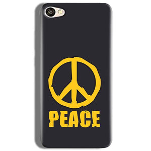 Oppo F3 Mobile Covers Cases Peace Blue Yellow - Lowest Price - Paybydaddy.com