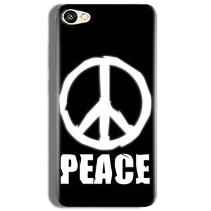 Oppo F3 Mobile Covers Cases Peace Sign In White - Lowest Price - Paybydaddy.com