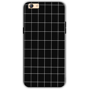 Oppo F3 Plus Mobile Covers Cases Black with White Checks - Lowest Price - Paybydaddy.com