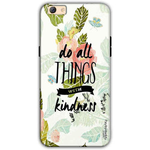 Oppo F3 Plus Mobile Covers Cases Do all things with kindness - Lowest Price - Paybydaddy.com