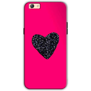 Oppo F3 Plus Mobile Covers Cases Pink Glitter Heart - Lowest Price - Paybydaddy.com