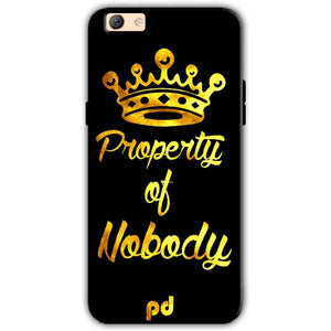 Oppo F3 Plus Mobile Covers Cases Property of nobody with Crown - Lowest Price - Paybydaddy.com