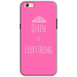 Oppo F3 Plus Mobile Covers Cases Queen Of Everything Pink White - Lowest Price - Paybydaddy.com