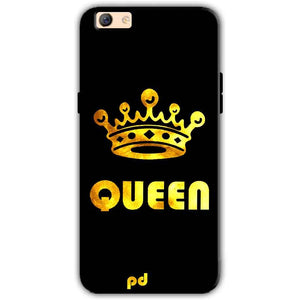 Oppo F3 Plus Mobile Covers Cases Queen With Crown in gold - Lowest Price - Paybydaddy.com