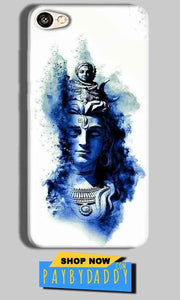 Oppo F3 Plus Mobile Covers Cases Shiva Blue White - Lowest Price - Paybydaddy.com
