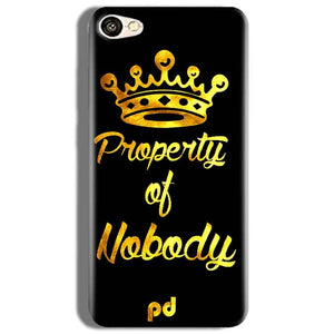 Oppo F3 Mobile Covers Cases Property of nobody with Crown - Lowest Price - Paybydaddy.com