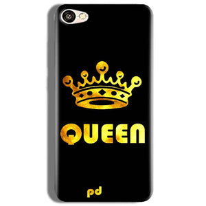 Oppo F3 Mobile Covers Cases Queen With Crown in gold - Lowest Price - Paybydaddy.com