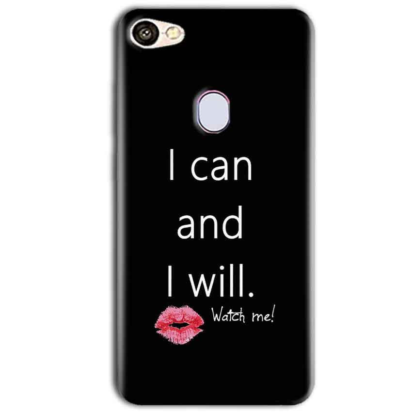 Oppo F5 Mobile Covers Cases i can and i will Lips - Lowest Price - Paybydaddy.com