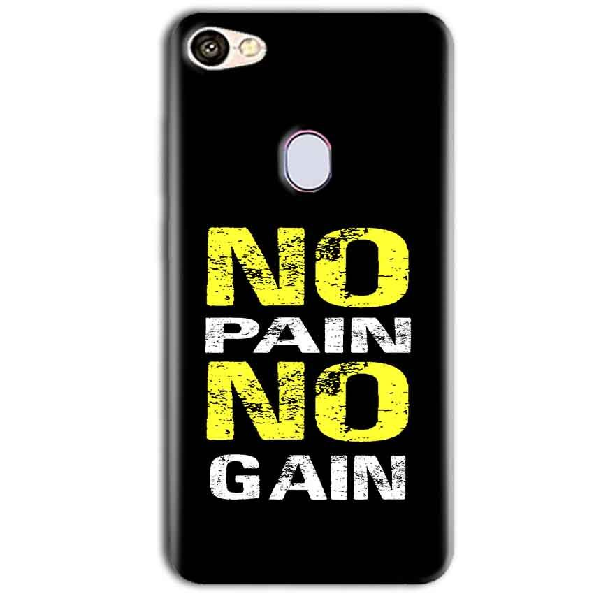 Oppo F5 Mobile Covers Cases No Pain No Gain Yellow Black - Lowest Price - Paybydaddy.com