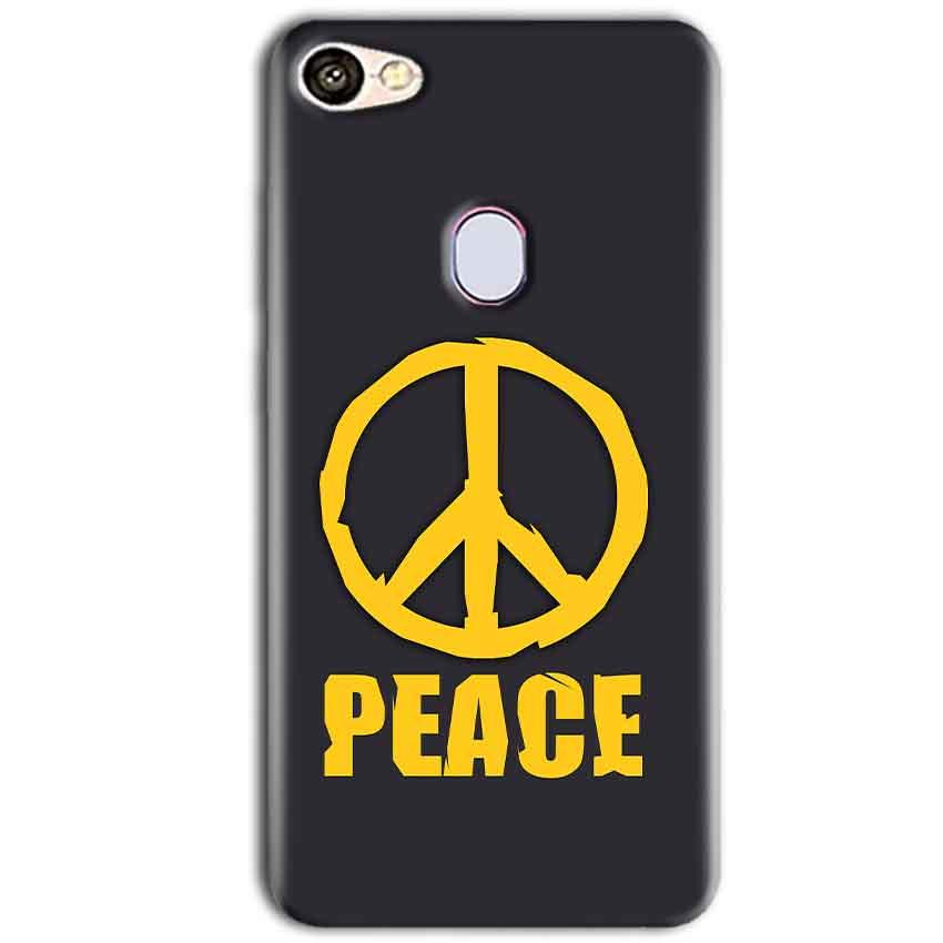 Oppo F5 Mobile Covers Cases Peace Blue Yellow - Lowest Price - Paybydaddy.com