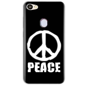 Oppo F5 Mobile Covers Cases Peace Sign In White - Lowest Price - Paybydaddy.com