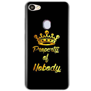 Oppo F5 Mobile Covers Cases Property of nobody with Crown - Lowest Price - Paybydaddy.com