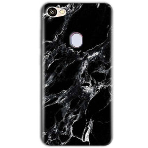 Oppo F5 Mobile Covers Cases Pure Black Marble Texture - Lowest Price - Paybydaddy.com