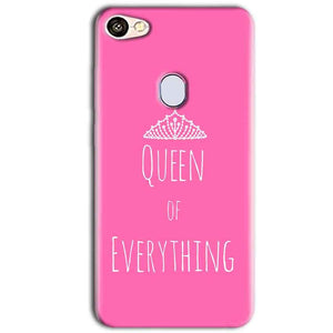 Oppo F5 Mobile Covers Cases Queen Of Everything Pink White - Lowest Price - Paybydaddy.com