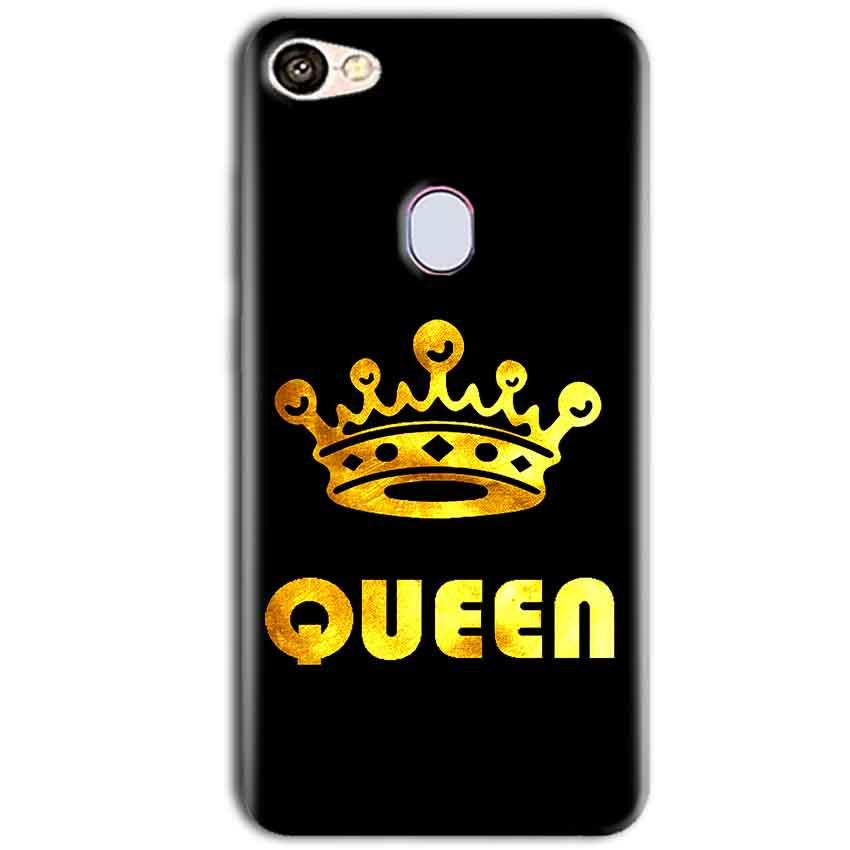 Oppo F5 Mobile Covers Cases Queen With Crown in gold - Lowest Price - Paybydaddy.com