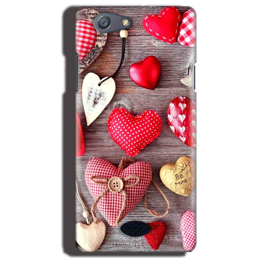 Oppo Neo 5 Mobile Covers Cases Hearts- Lowest Price - Paybydaddy.com