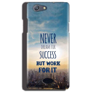 Oppo Neo 5 Mobile Covers Cases Never Dreams For Success But Work For It Quote - Lowest Price - Paybydaddy.com