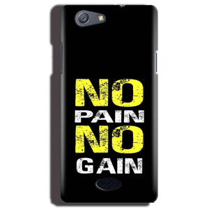 Oppo Neo 5 Mobile Covers Cases No Pain No Gain Yellow Black - Lowest Price - Paybydaddy.com