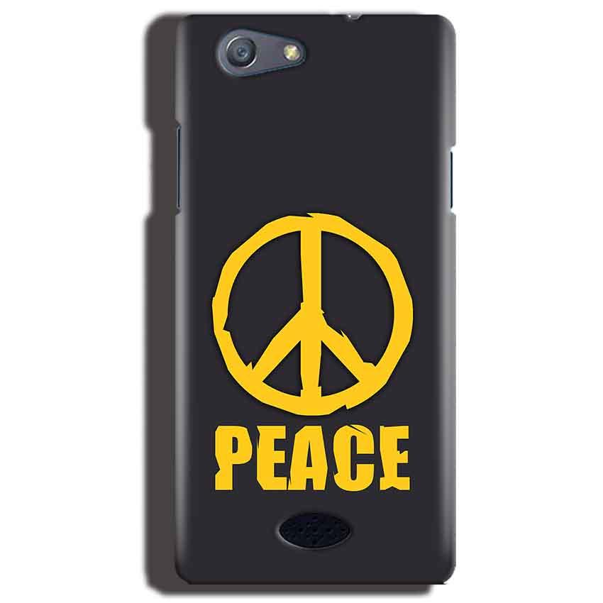 Oppo Neo 5 Mobile Covers Cases Peace Blue Yellow - Lowest Price - Paybydaddy.com