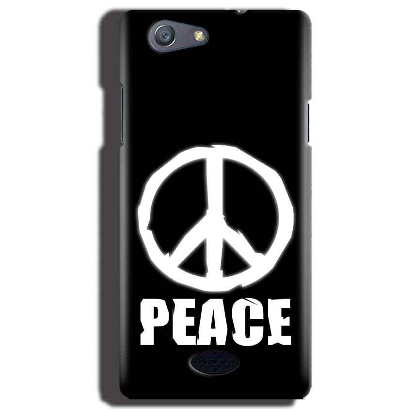 Oppo Neo 5 Mobile Covers Cases Peace Sign In White - Lowest Price - Paybydaddy.com