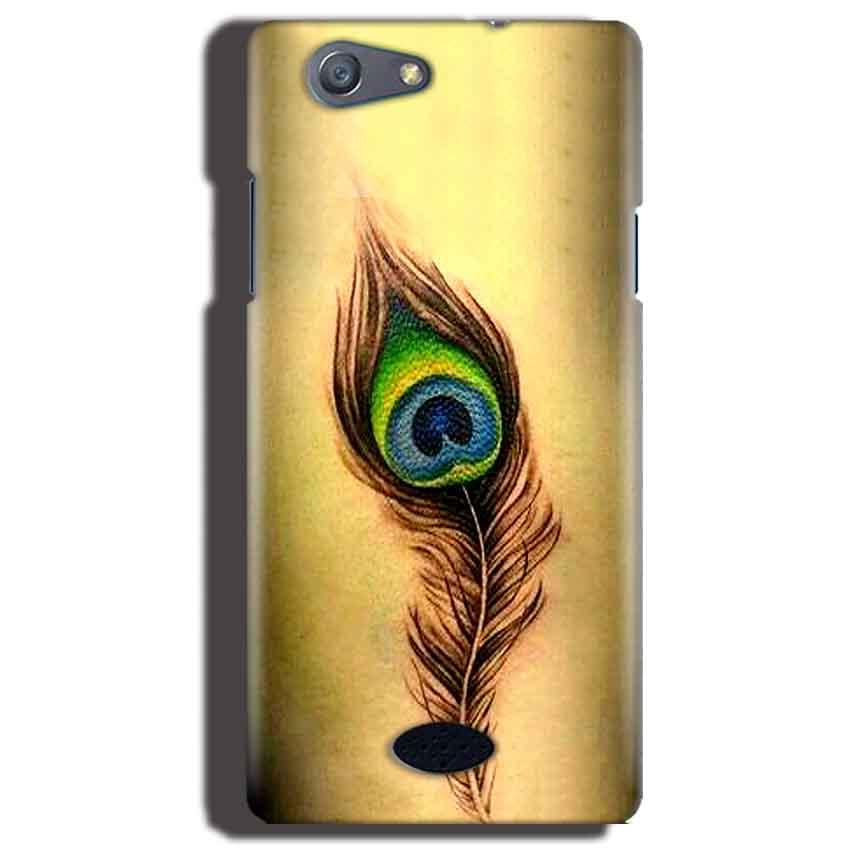 Oppo Neo 5 Mobile Covers Cases Peacock coloured art - Lowest Price - Paybydaddy.com