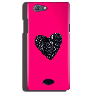 Oppo Neo 5 Mobile Covers Cases Pink Glitter Heart - Lowest Price - Paybydaddy.com