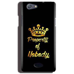 Oppo Neo 5 Mobile Covers Cases Property of nobody with Crown - Lowest Price - Paybydaddy.com