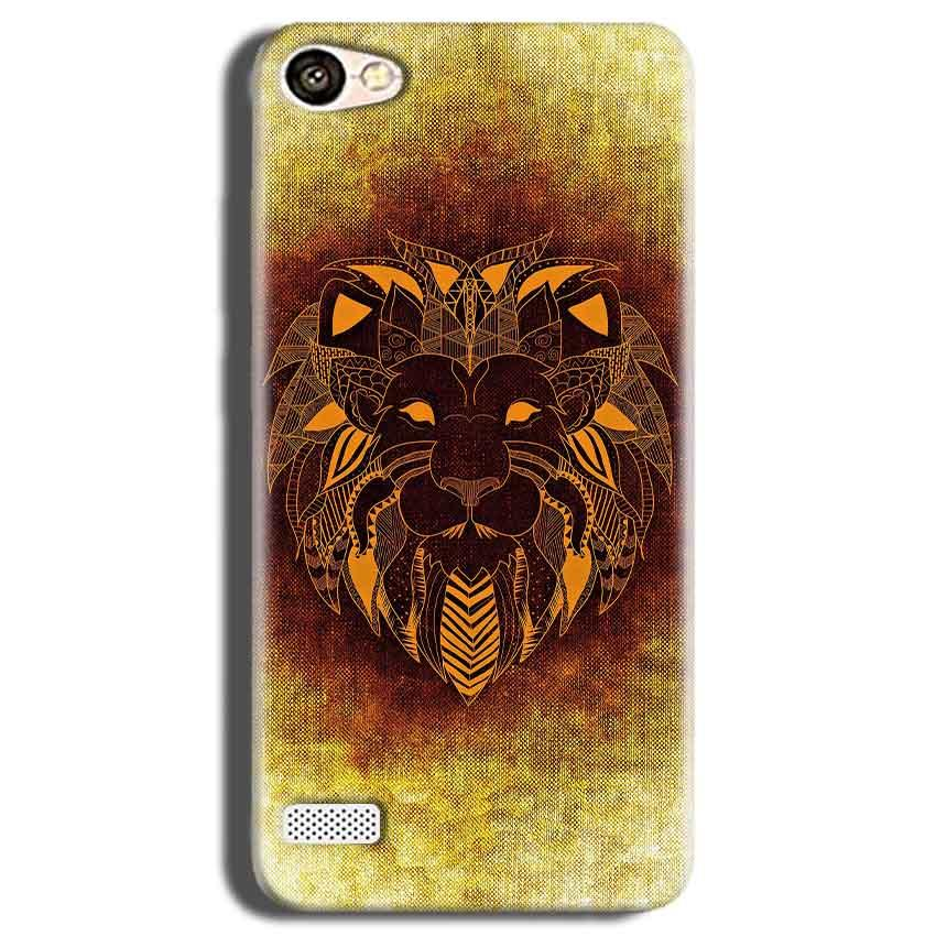 Oppo Neo 7 Mobile Covers Cases Lion face art - Lowest Price - Paybydaddy.com