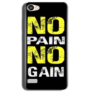 Oppo Neo 7 Mobile Covers Cases No Pain No Gain Yellow Black - Lowest Price - Paybydaddy.com
