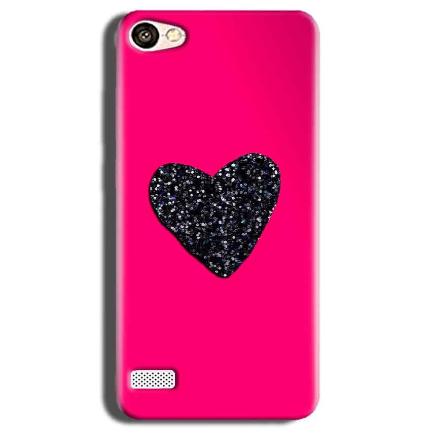 Oppo Neo 7 Mobile Covers Cases Pink Glitter Heart - Lowest Price - Paybydaddy.com