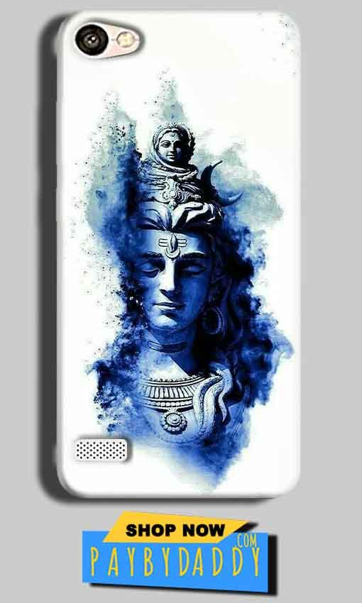 Oppo Neo 7 Mobile Covers Cases Shiva Blue White - Lowest Price - Paybydaddy.com