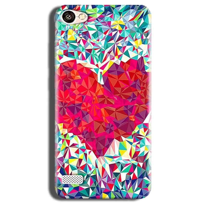 Oppo Neo 7 Mobile Covers Cases heart Prisma design - Lowest Price - Paybydaddy.com