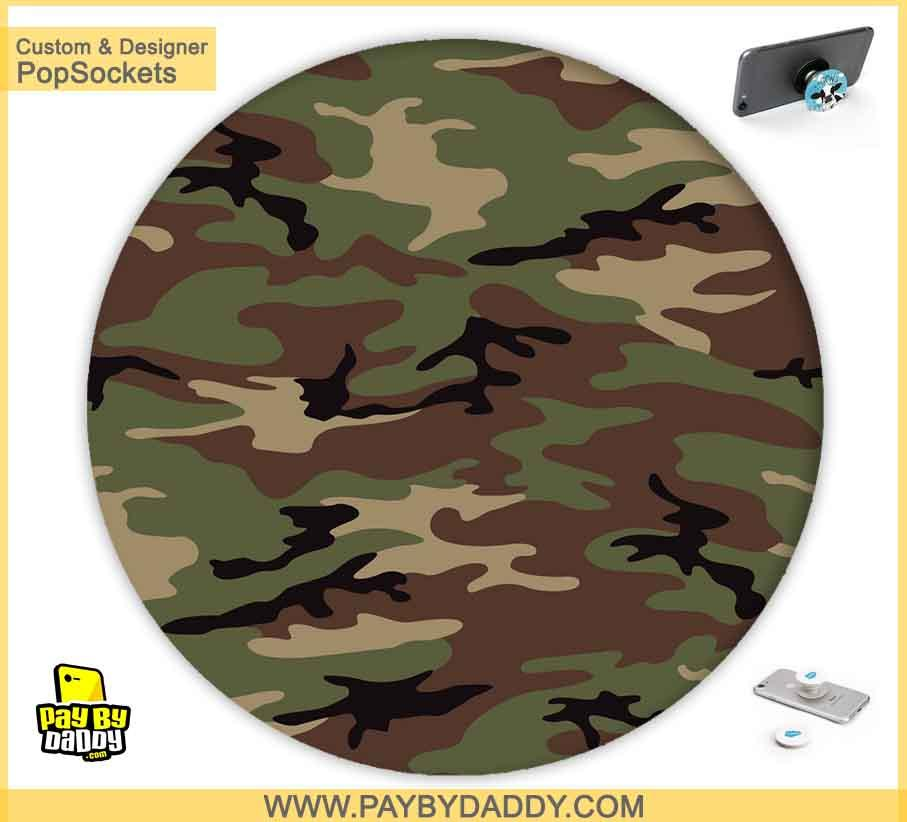 PopSockets Grip - Army Camo #4  makes expanding device grips and mounts. Use them for gripping, propping, cord management, and just looking good. Use your PopSockets 50 % Discount On Sale | Free and Fast Shipping