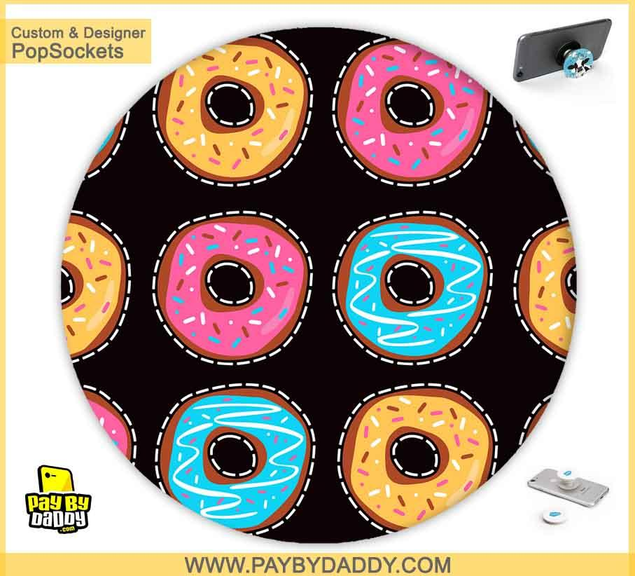 PopSockets Grip - Colorful Donuts  makes expanding device grips and mounts. Use them for gripping, propping, cord management, and just looking good. Use your PopSockets 50 % Discount On Sale | Free and Fast Shipping