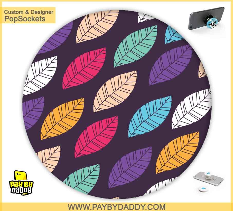 PopSockets Grip - Colorful Leaves  makes expanding device grips and mounts. Use them for gripping, propping, cord management, and just looking good. Use your PopSockets 50 % Discount On Sale | Free and Fast Shipping