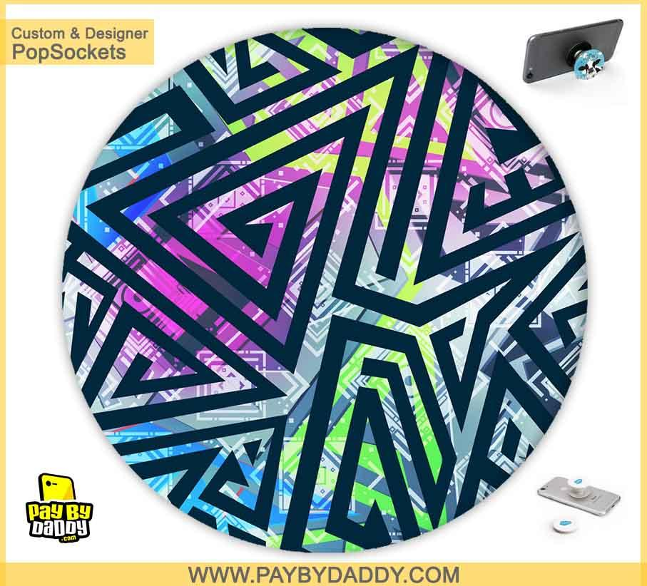 PopSockets Grip - Colorful Lines  makes expanding device grips and mounts. Use them for gripping, propping, cord management, and just looking good. Use your PopSockets 50 % Discount On Sale | Free and Fast Shipping