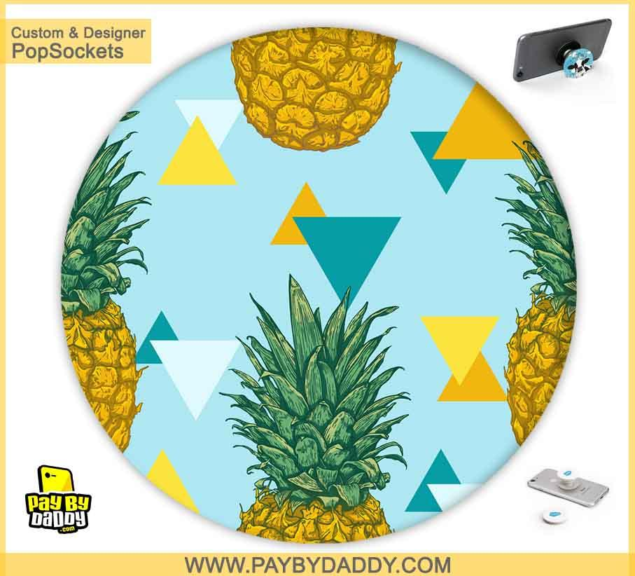 PopSockets Grip - Colorful Pineapple  makes expanding device grips and mounts. Use them for gripping, propping, cord management, and just looking good. Use your PopSockets 50 % Discount On Sale | Free and Fast Shipping