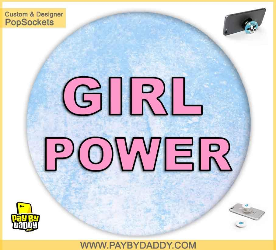 PopSockets Grip - Girls Power  makes expanding device grips and mounts. Use them for gripping, propping, cord management, and just looking good. Use your PopSockets 50 % Discount On Sale | Free and Fast Shipping