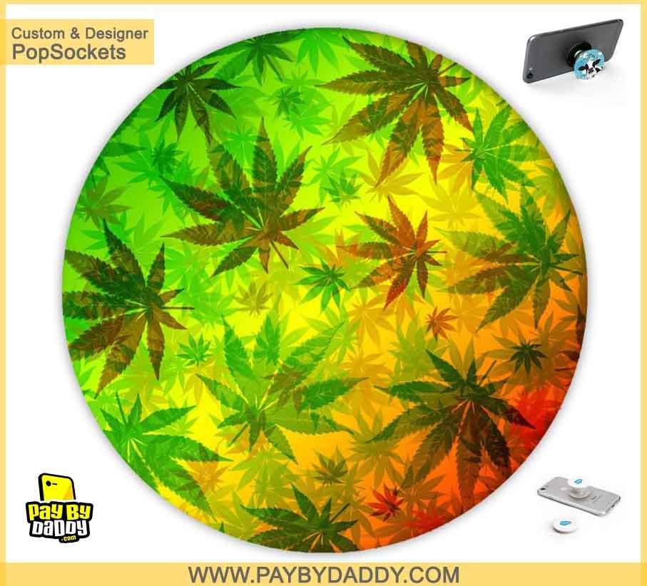 PopSockets Grip - Marijuana Cannabis Leaves  makes expanding device grips and mounts. Use them for gripping, propping, cord management, and just looking good. Use your PopSockets 50 % Discount On Sale | Free and Fast Shipping