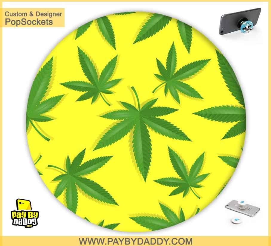 PopSockets Grip - Marijuana Cannabis Leaves #1  makes expanding device grips and mounts. Use them for gripping, propping, cord management, and just looking good. Use your PopSockets 50 % Discount On Sale | Free and Fast Shipping