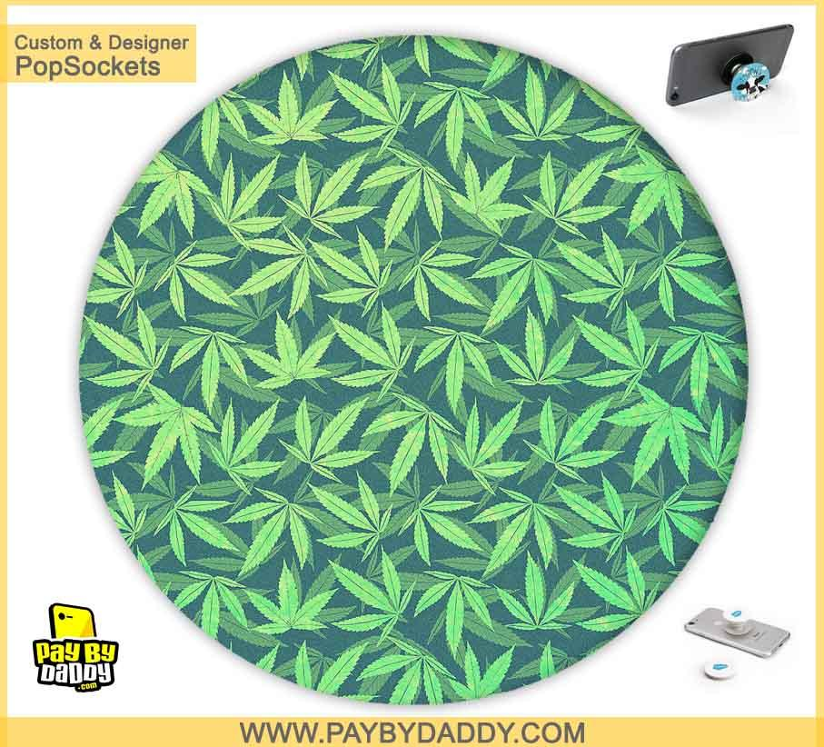 PopSockets Grip - Marijuana Cannabis Leaves #2  makes expanding device grips and mounts. Use them for gripping, propping, cord management, and just looking good. Use your PopSockets 50 % Discount On Sale | Free and Fast Shipping