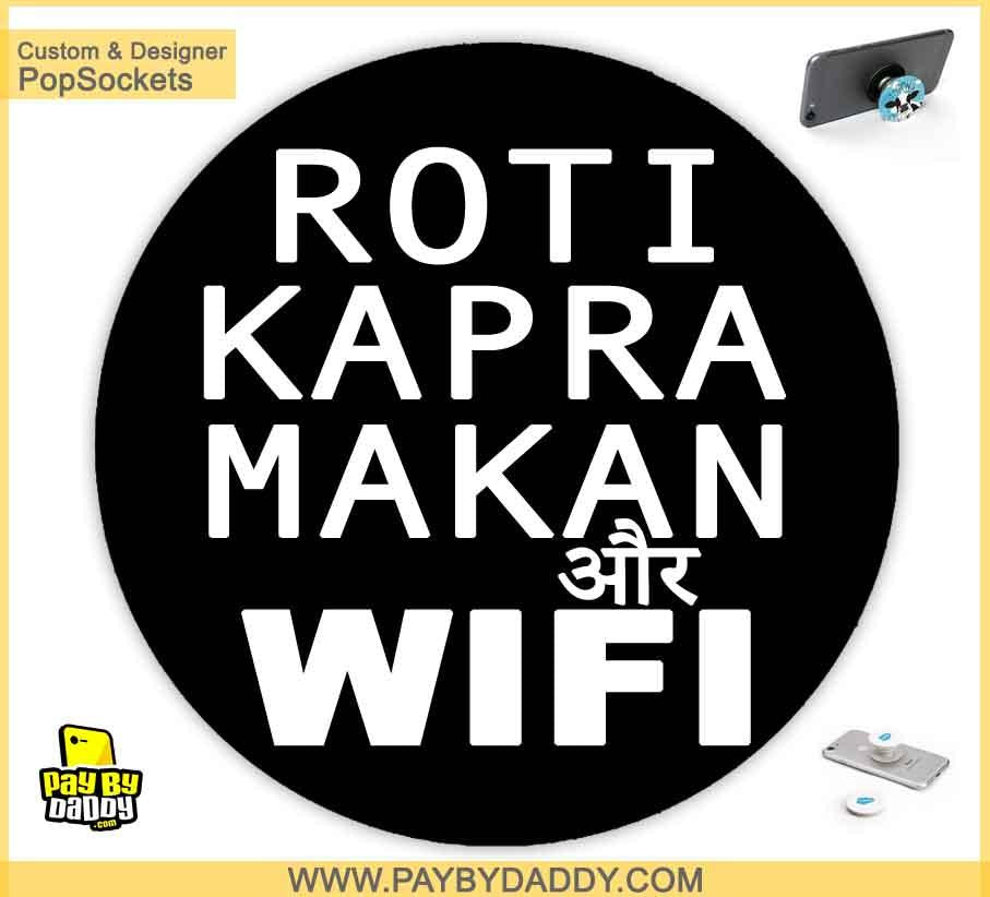 PopSockets Grip - Roti Kapra Makan Or Wifi  makes expanding device grips and mounts. Use them for gripping, propping, cord management, and just looking good. Use your PopSockets 50 % Discount On Sale | Free and Fast Shipping