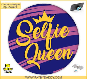 PopSockets Grip - Selfie Queen  makes expanding device grips and mounts. Use them for gripping, propping, cord management, and just looking good. Use your PopSockets 50 % Discount On Sale | Free and Fast Shipping