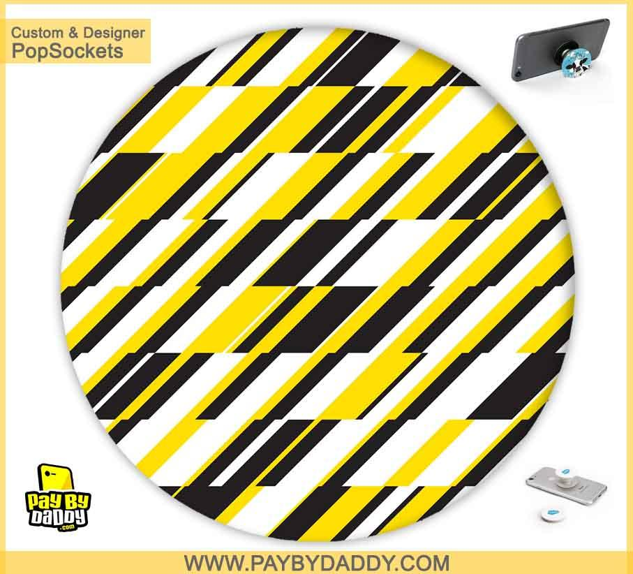 PopSockets Grip - Yellow Pattern  makes expanding device grips and mounts. Use them for gripping, propping, cord management, and just looking good. Use your PopSockets 50 % Discount On Sale | Free and Fast Shipping