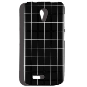 Reliance LYF Flame 2 Mobile Covers Cases Black with White Checks - Lowest Price - Paybydaddy.com