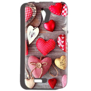 Reliance LYF Flame 2 Mobile Covers Cases Hearts- Lowest Price - Paybydaddy.com