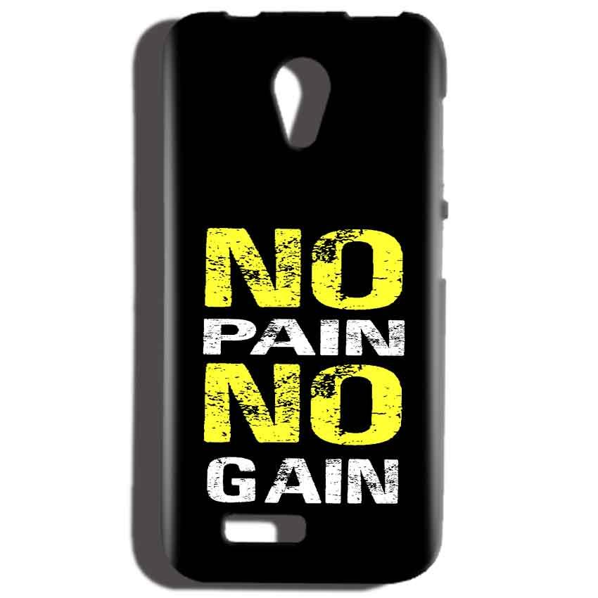 Reliance LYF Flame 2 Mobile Covers Cases No Pain No Gain Yellow Black - Lowest Price - Paybydaddy.com