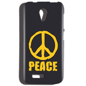 Reliance LYF Flame 2 Mobile Covers Cases Peace Blue Yellow - Lowest Price - Paybydaddy.com