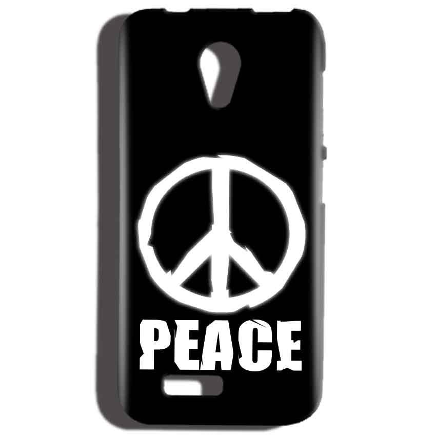 Reliance LYF Flame 2 Mobile Covers Cases Peace Sign In White - Lowest Price - Paybydaddy.com