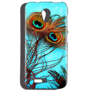 Reliance LYF Flame 2 Mobile Covers Cases Peacock blue wings - Lowest Price - Paybydaddy.com
